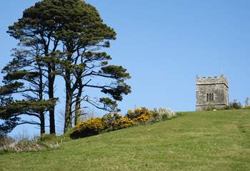 There is a lovely cliff walk up to the ancient church.