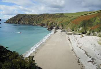 Wonderful cliff-top walks in the area.