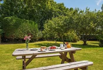 Enjoy afternoon tea in the gorgeous garden.