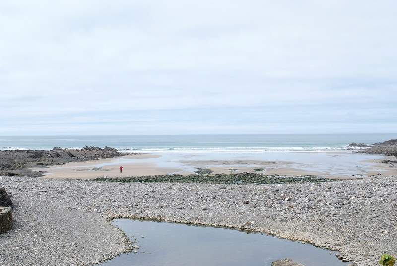 Crackington Haven has a lovely beach to explore.