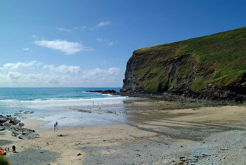 The beach at Crackington Haven.