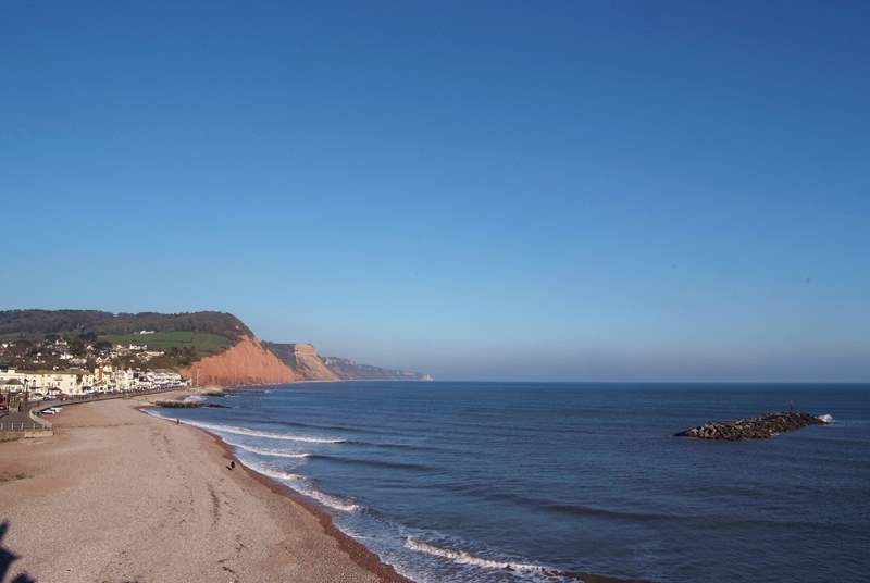 This is the Regency town of Sidmouth. There is a lovely promenade and a great town centre for browsing for some treats.
