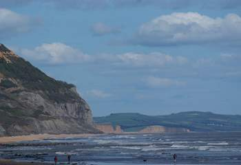 A view along the Jurassic Coast from Charmouth - the fossil collecting beach!
