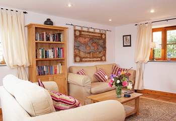 The sitting-room is very welcoming and comfortable.