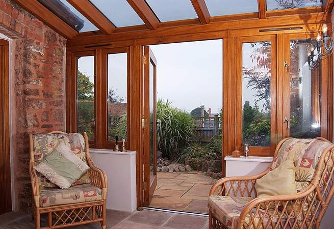 There is a wonderful sun-room to enjoy.
