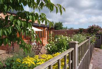 A view of the sheltered front garden.