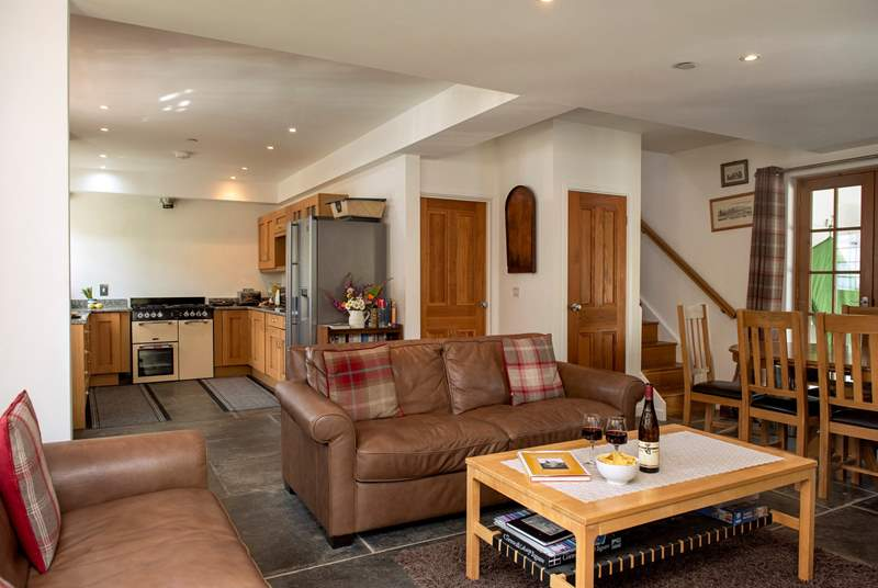 Open plan living will ensure you enjoy your time together