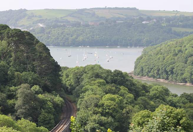 Looking down towards the River Dart.