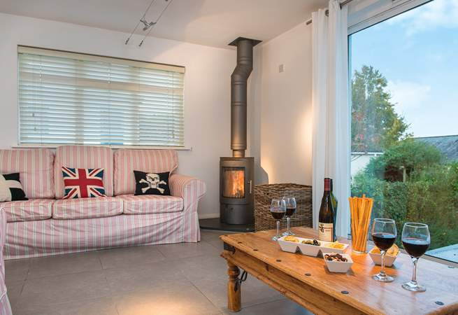 3 Porthilly has a gorgeous wood-burner, keeping you warm and cosy whatever the weather!