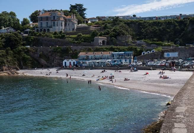 Breakwater beach is just a short stroll away along the harbour wall.