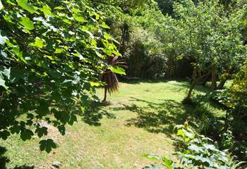 This is the secluded garden tucked behind Little Woodlands.