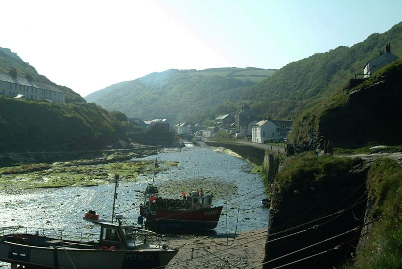 Boscastle Harbour.