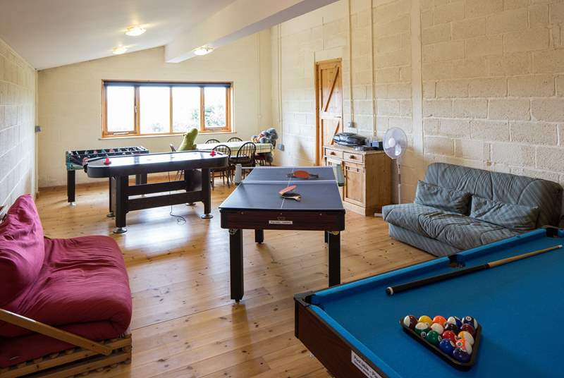 The games-room. Plenty to keep you entertained!
