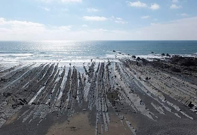 Welcombe beach.