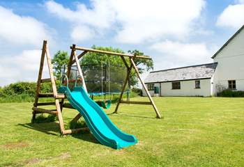 There is an outside play-area which is shared with the other cottages.