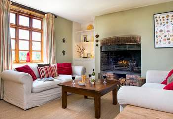 The main sitting-room is the ideal place to relax and unwind.
