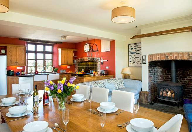 The wonderful open plan living-room really is the heart of the home and a great place for all to gather.