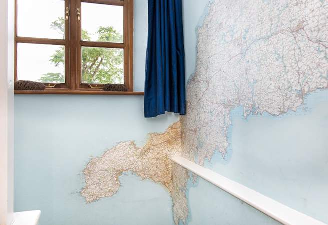 There's a terrific oversized map in the stairwell.