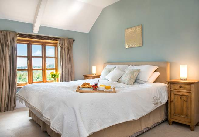 Bedroom 2 has lovely views across the garden.