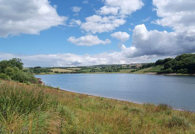 Bumble Bee Barn is close to Exmoor National Park. This is Wimbleball Lake - with wonderful walks, sailing and a lovely tea shop.