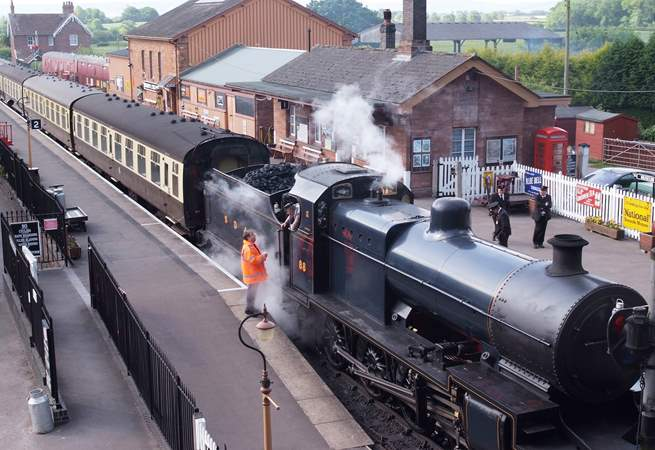 Catch the West Somerset Steam Train from Bishops Lydeard just a couple of miles away. A great way to explore leaving the car behind.