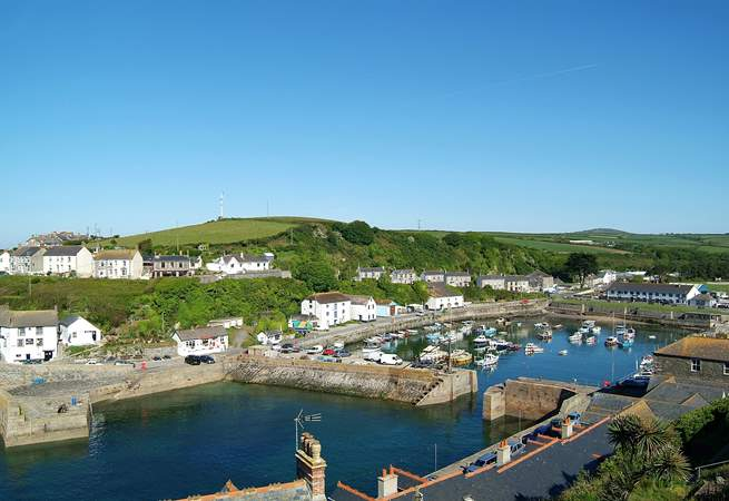 The lovely view of Porthleven as you approach the village.