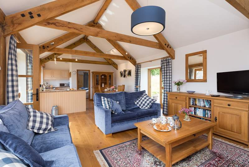 Inside this cottage is a delight. Beautifully presented to the highest standard, light and airy, very comfortable and equipped as a home-from-home.