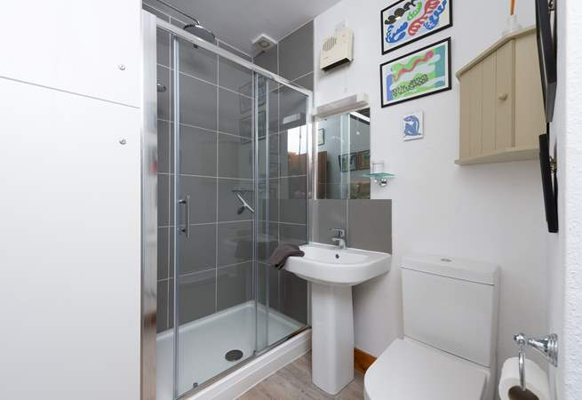 This is the new en suite shower-room.