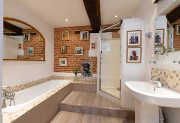 There is a wonderful family bathroom too, with a deep bath and a separate shower cubicle.