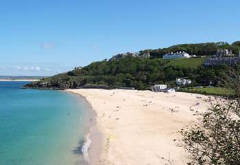 The beach at St Ives.