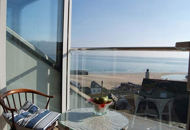 Enjoy the sea views from the glazed second floor sitting-room.
