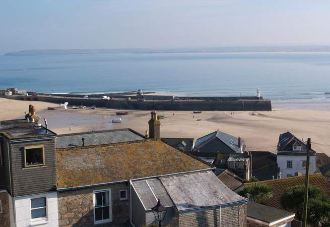 Views across St Ives from the second floor sitting-room.