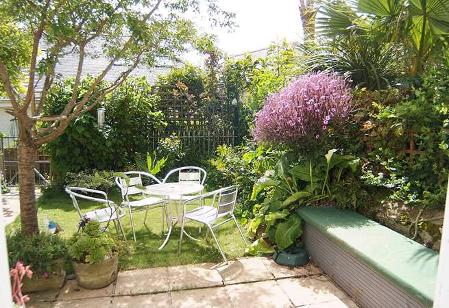 The gorgeous terrace and garden.