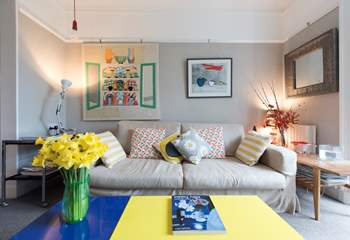 Splashes of colour add to the charm of this gorgeous house.