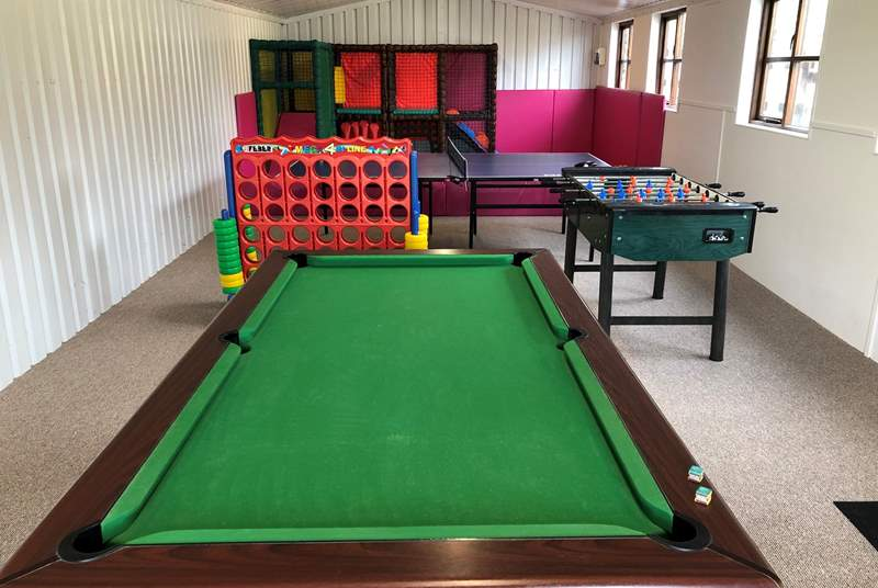 There is something for kids of all ages in the games room!