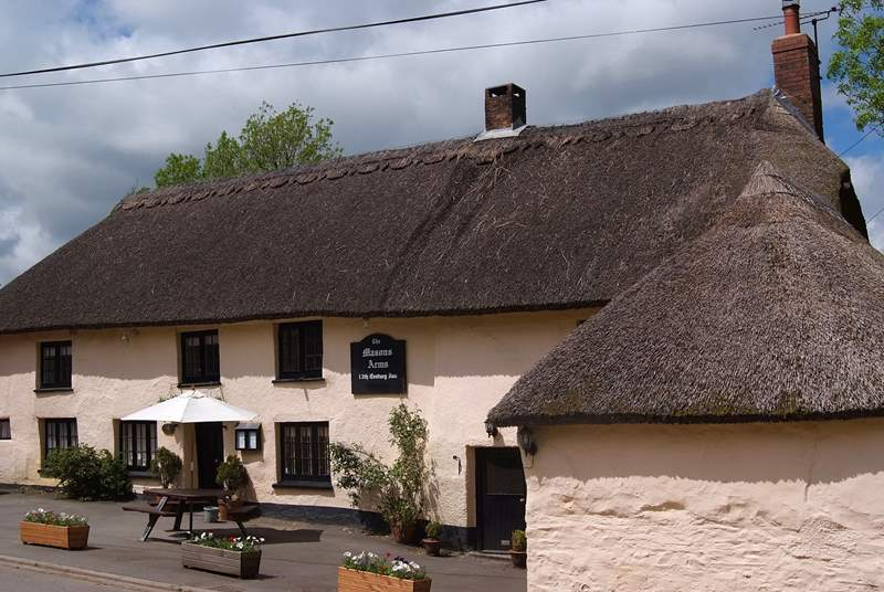 The Mason's Arms at Knowstone is a renowned award-winning local pub with an excellent reputation.