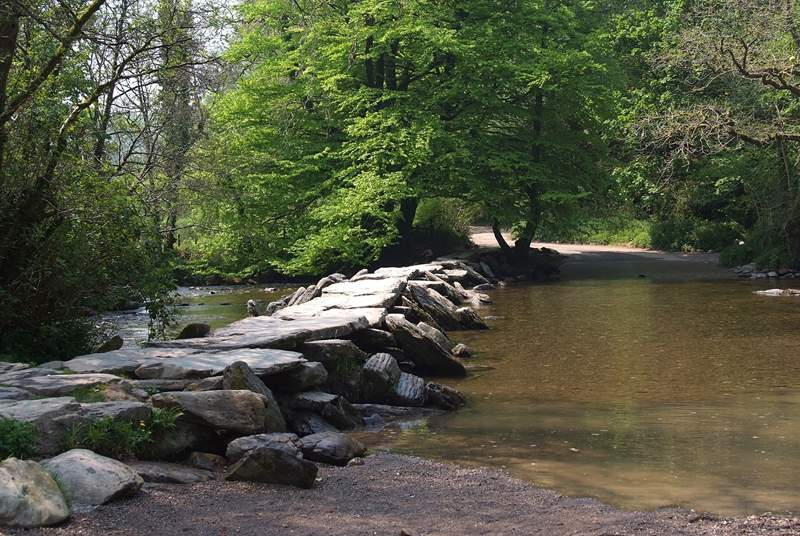 These are the famous and ancient Tarr Steps - a real Exmoor Landmark.