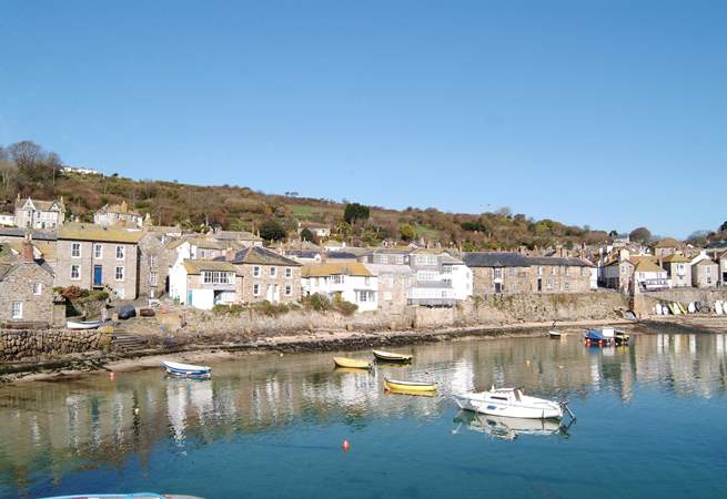 Mousehole harbour is just 50 yards from the property.