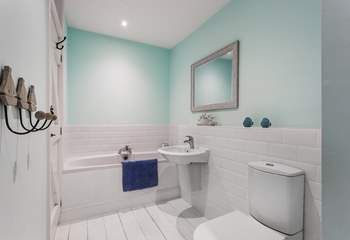This lovely bath is perfect for soaking in after a day on the coast.