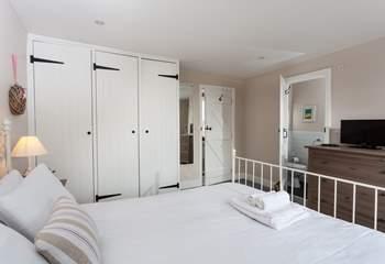 The stylish master bedroom (Bedroom 1).