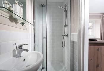 The master bedroom has a lovely en suite shower- room.