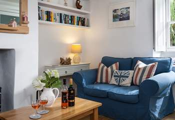 The cosy sitting-room with lovely homely touches.
