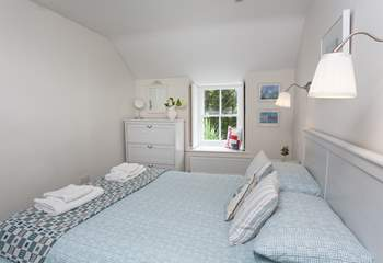 Bedroom two overlooks quaint Duck Street, which leads onto the harbour. The sea is waiting for you!