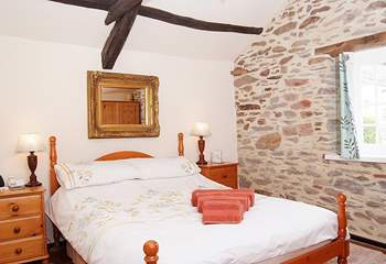The double bedroom looks out over the hidden gardens in the heart of Dulverton.