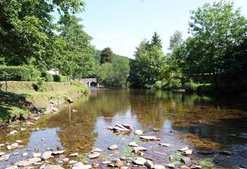 The River Barle flows through Dulverton - there are some lovely walks alongside it.