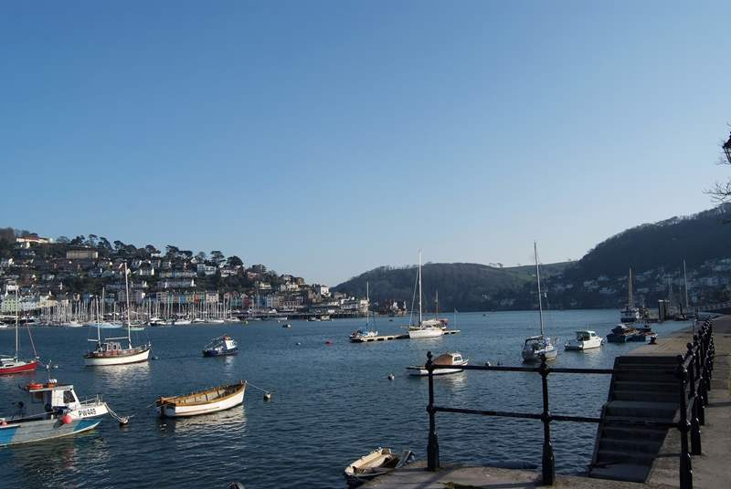 The river Dart is full of vessels of all shapes and sizes.