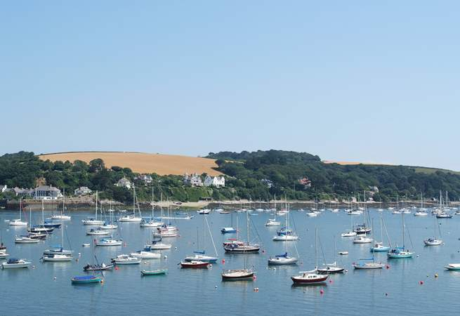 There is a multitude of boats moored out on the water from spring to autumn, a wonderful view from the balcony.