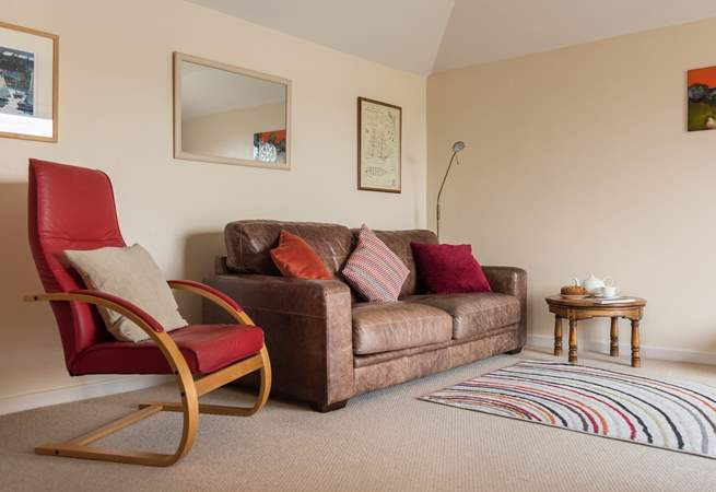 The comfortable sofa to snuggle up on after a day exploring.
