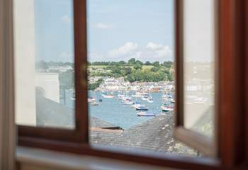 The master bedroom overlooks Flushing and the Carrick Roads.