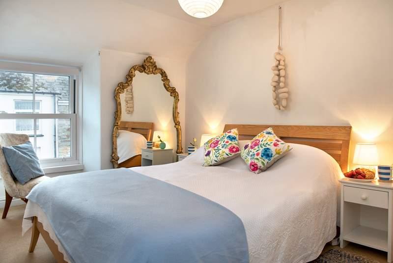 The light master bedroom.